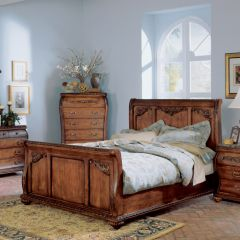 B533  Sleigh Bed King(침대+협탁+화장대)~Last Sale~