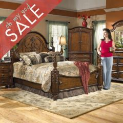 B486  Queen Poster Bed (침대+협탁) 37조 Sale