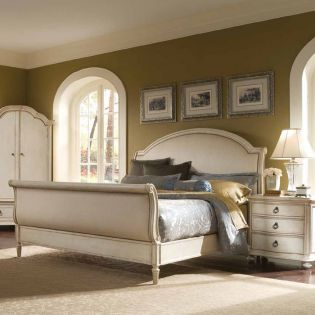Provenance 761  Sleigh Queen Bed (침대+협탁+화장대) ~French Design~