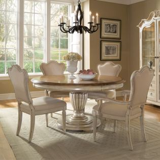 Provenance 76225  Dining Set (1 Table + 2 Arm + 2 Side)