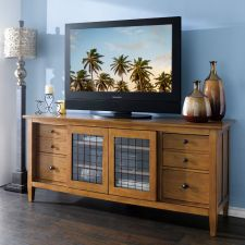 64423-Straw Modern Country Entertainment Console