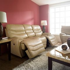 E543-Ivory  Power Leather Recliner Sofa
