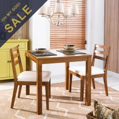 D282  Dining Set (1 Table + 2 Chairs)
