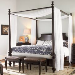 Tommy Bahama  Royal Kahala Canopy Bed (침대+협탁+화장대)