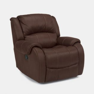 1549-54  Leather Glider Recliner