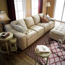 7491-Ivory  Leather Sofa (2+2)