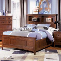 Y1873-58  Bookcase Bed (침대) (매트 규격: 134cmx 193cm)