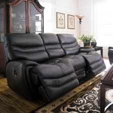 E543-Black  Power Leather Recliner Sofa