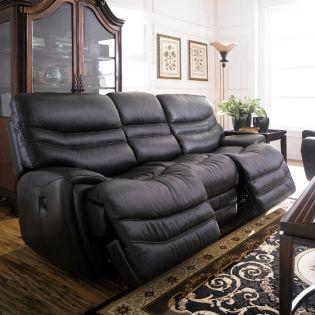 E543-Black  Power Leather Recliner Sofa