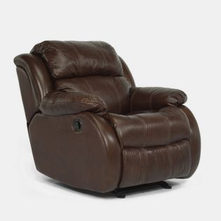 1206-54  Leather Glider Recliner