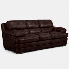 1127-31  Leather Sofa  ~Blue Steel~
