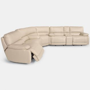 1276  Leather Recliner Sofa