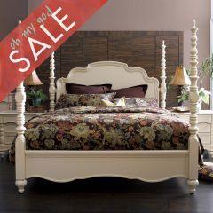 B2158  Poster Queen Bed (침대+협탁+화장대) +봉높이 조절 가능한 침대+