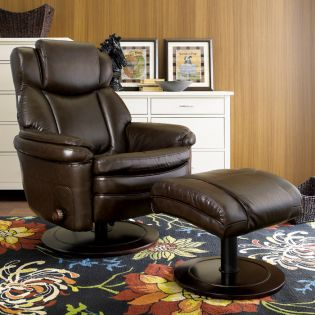 15-8002 Eclipse II-Chocolate  Recliner w/ Ottoman