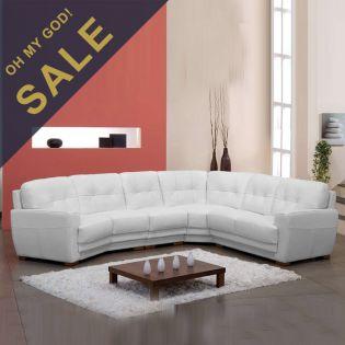 Como  Leather Sofa