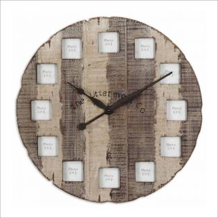 6672  Barn Wood Clock