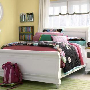 Classics 131A041  Sleigh Full Bed (침대) (매트 규격: 134cmx 193cm)