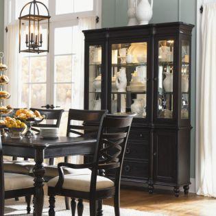 1521 Glen Cove Espresso  Display Cabinet