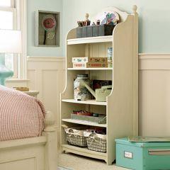 Paula Deen Gals 233A018  Bookcase w/ Metal Baskets