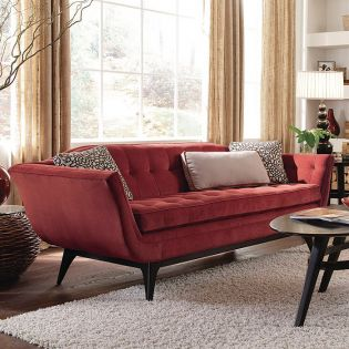 3850-082-A  Kaelyn Exposed Wood Sofa ~Very Fine Brand~