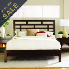 B966  Grid Platform King Bed (침대+협탁+화장대)
