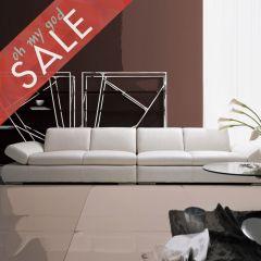 DIV ILARY-Latte  Leather Sofa (2+2)