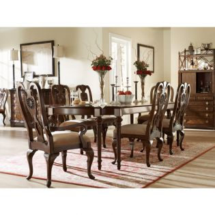 3052-901  New London 8 Leg Dining Set  (1 Table + 2 Arm + 4 Side)