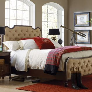 3053-312  New London Upholstered Bed (침대+협탁+화장대)