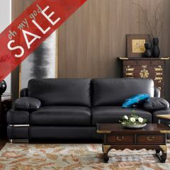 7253  Leather Sofa