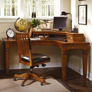 i15-370  Harvest Curve L Desk & Hutch