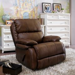 1259-510  Leather Rocker Recliner