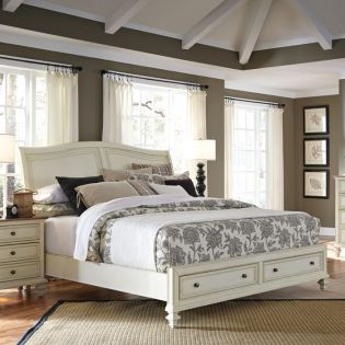 i67 Cottonwood  Sleigh Storage King Bed (침대+협탁+화장대)