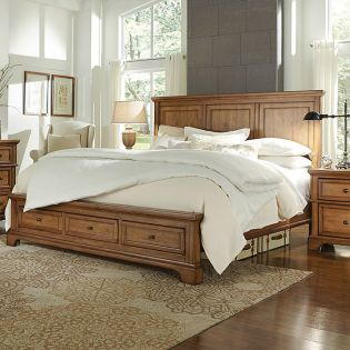 i09 Alder Creek  Panel Storage Bed (침대+협탁+화장대)No Mirror ~Storage Drawer~