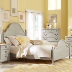 3830-4204K Inspirations  Low Poster Full Bed (침대) (매트 규격: 134cmx 193cm)