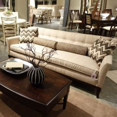 702501-5001AA Rachel Creme  Flared Arm Sofa