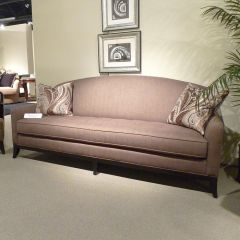 701501 Whitney Cocoa  Camel Back Tufted Seat Sofa