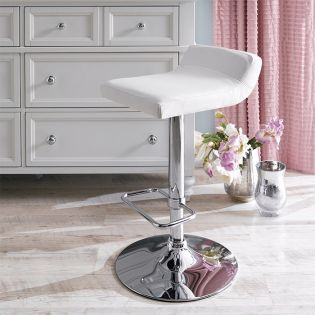 41696-White-Fiesta  Adjustable Bar Stool