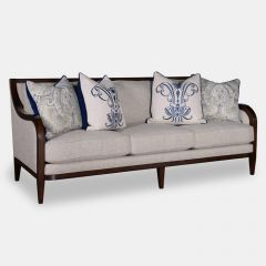 516521 Bristol Linen  Tapered Legs Sofa