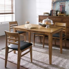 Capuchino  Dining Set (1 Table + 4 Chairs) ~Ash 나무로 제작됨~