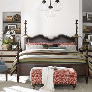 2787 Highlands Poster Bed (침대+협탁+화장대)