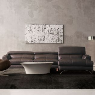 MU-A0030-Brown  Top Leather Sofa w/ Chaise