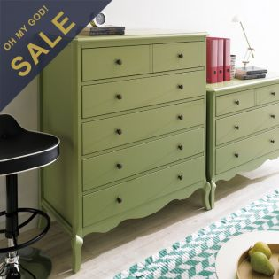 B2185-10 Green  5-Drawer Chest    ~Top Quality~
