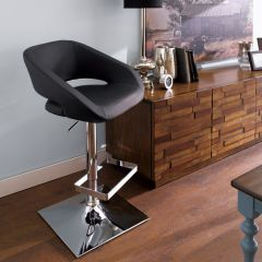 20722-Black-Gustavo  Adjustable Bar Stool