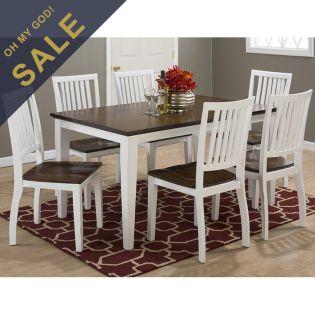 672-60 Braden Birch  Dining Set (1 Table + 6 Chairs)