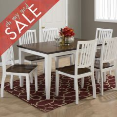672-60 Braden Birch  Dining Set (1 Table + 6 Chairs)