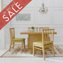 D1400-4  Dining Set (1 Table + 4 Chairs)