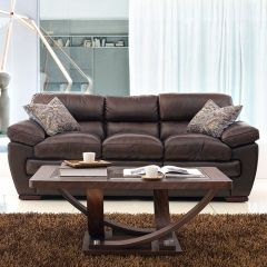6788-30-Daevenport  Leather Sofa