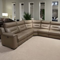 9744  Power Leather Recliner Sofa