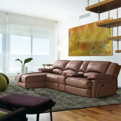 T118  Power Leather Recliner Sofa