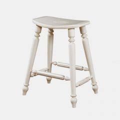 Summer Home 1051-928-S-White  Saddle Counter Stool